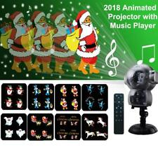 Snow Falling Animated LED Projector Outdoor Halloween Christmas Lights Music