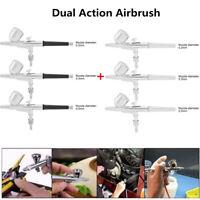 Spirit Air 0.2/0.3/0.5mm Gravity Feed Dual Action Airbrush Paint Spray Gun Kit