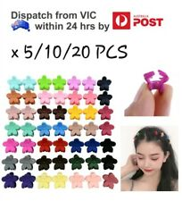 5/10/20PCS Mix Colour Baby Kids Girl Mini Plastic Flower Hair Claw Clips Hairpin