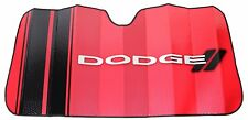 New Elite Style Car Truck SUV Front Windshield Accordion Red Sun Shade for Dodge