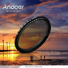 Andoer 52mm ND Fader Neutral Density ND2 ~ND400 Variable Lens Filter for Canon