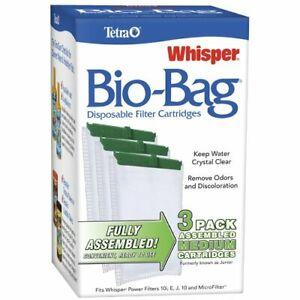 Tetra Whisper Assembled Bio-Bag Filter Medium Cartridges, 3 Count