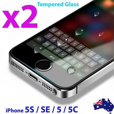 2X anti scratch Tempered Glass Screen Protector for Apple iPhone SE 5 5S 5C