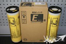 2 Genuine Riso S-7207 Yellow Ink Risograph S-4279 MZ RZ RZ590 RZ790 RZ990 RZ1090