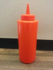 (One) 12 Ounce Red Plastic Ketch Up Bottle Hamburgers/French Fries