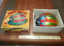 VINTAGE LINEMAR tin MAGIC BEETLE - BATTERY OP made in Japan in BOX - tin toy lot