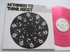 CHRIS FARLOWE 14 Things to think about German OutLine   Pink Vinyl:mint/Cover:ex