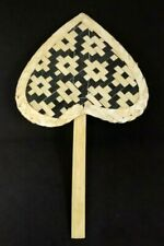 Hand fan Handcraft Weave bamboo Handmade Craft Home Decor Thai Style Vintage