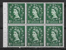 Great Britain , 1955/57 , Elizabeth Ii , Booklet Pane Of 6 , Mnh , Cv$8.50