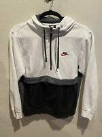 Men's Nike White Black Hoodie Colorblock Black Tag Size Large Swoosh Logo