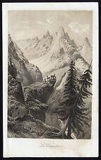 Antique Print-DENTS DE BOUQUETINS-ALPS-ITALY-SWITZERLAND-Journal des Haras-1852