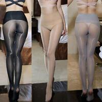 High Waist Seamless Plus Size Super Glossy Shiny Pantyhose Sheer Stocking Tights
