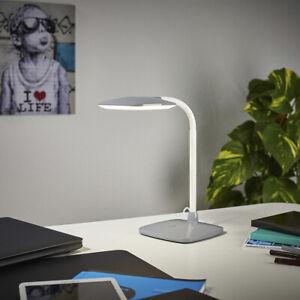 LED Tageslichtleuchte Tischlampe Leuchte Schreibtisch Beleuchtung hellgrauT143