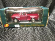 1955 Chevy 3100 Stepside Pickup SUPERIOR / SUNNYSIDE Diecast 1:24 Cranberry Red
