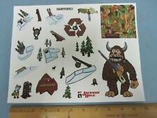BURTON snowboard THE STASH promo 22 sticker set sheet New Old Stock Flawless