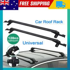 1 Pair Universal Car Aluminium Flush Rail Roof Rack Lockable Cross Bar 90-100cm