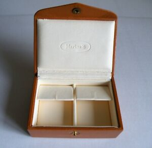 A QUALITY  VINTAGE ANTIQUE EARRING  BOX  BY MARINA  B