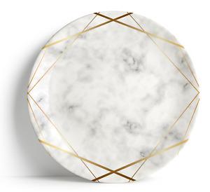 """Gold Marble -  - 16"""" Serving Plate, Porcelain, Ceramic, Dishwasher safe"""