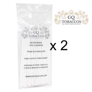 2 Paquets De GQ Tobaccos en Fuseau Nettoie-Pipes 50 = 100 Nettoie-Pipes
