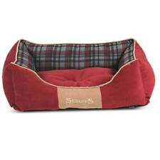 Scruffs Large Highland Dog Box Bed Red Tartan 75 x 60CM Machine Washable