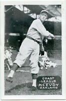 Baseball Photo Postcard of Louis McEvoy
