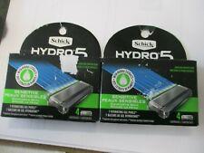 Schick Hydro 5 Sensitive Skin Razor Cartridges (2) 4 pk - NEW FACTORY SEALED