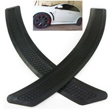 2PCS Mesh Style Black Polyurethane Front Fender Side Vent Cover Trim For Car SUV