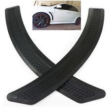 2PCS Mesh Style Black Polyurethane Front Fender Side Vent Cover Trim For Car SUV