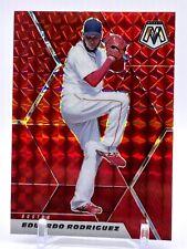 2021 Panini Mosaic Red Prizm #186 Eduardo Rodriguez - Boston Red Sox