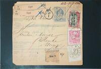 Austria SC# 125 2k on Postal Receipt, Receipt Creased - Z3311