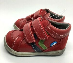 Bopy baby leather first shoe US 3 red