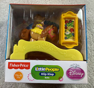 Fisher Price Disney Princess Belle Little People Klip Klop Beauty and the Beast