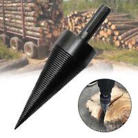 38mm Kindling Firewood Splitter Drill Bit Firewood Split Wood Cone Punch Tool
