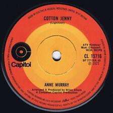 ANNE MURRAY 1971 UK 45 - COTTON JENNY