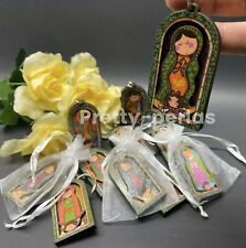 12 Guadalupe/Mary Party Favors Keychains Communion Baptism Recuerdos Bautizo