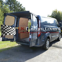 FORD TRANSIT CUSTOM (2013 ONWARDS) REAR BARN DOOR AWNING COVER - BLACK 514