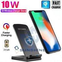 10W Qi Wireless Fast Charger Charging Dock Station For iPhone 12 Pro 11 Max X XS