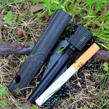Stone Fire Starter Survival Magnesium Flint Striker Lighter Opener Compass