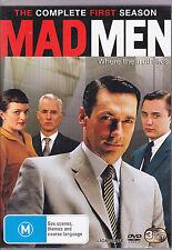 MAD MEN, FIRST SEASON 1- BRAND NEW & SEALED R4 DVD, 3-DISC SET (TV DRAMA SERIES)