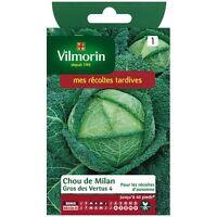 Sachet de graines CHOU DE MILAN GROS DES VERTUS 4 vilmorin seeds samen semillas