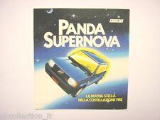 VECCHIO ADESIVO anni '80 / Old Sticker FIAT PANDA SUPERNOVA FIRE (cm 10 x 11,5)