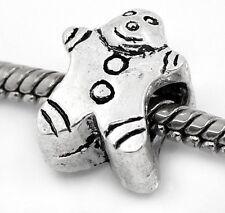 Gingerbread Man Christmas Cookie Food Bead fits Silver European Charm Bracelets