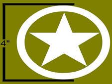 """5-----4"""" WWII Jeep Star Army Decal Stickers Restoration"""
