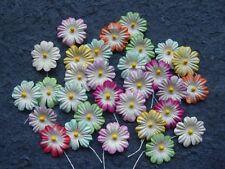 100 x 22mm FLOWERS Mixed Colours  MPFF18B Scrapbook & Card embellishments