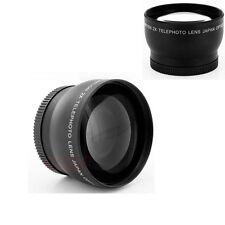 72mm High Speed 2x Digital Telephoto Lens for Nikon Canon SLR Camera