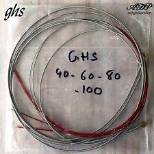 1 jeu Cordes pour Basse vrac 40-60-80-100 GHS Boomer Bass Strings Bulk