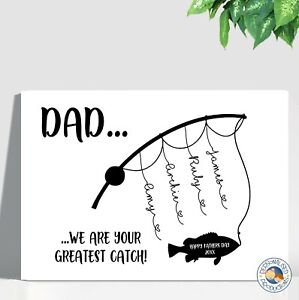 FATHER'S DAY GIFT personalised laminated print A4 SIZE DAD POPPY POP PA fishing