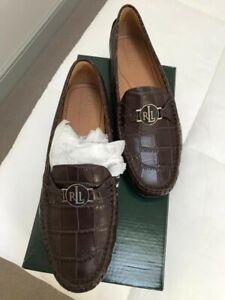 Ralph Lauren Carley Dark Brown Shoes 41