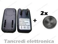 Caricabatteria lir2032 lir2025 con 2 batterie lir 2025 coin battery charger