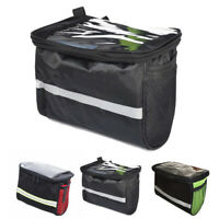 Bike Bicycle Cycling Folding Front Handlebar Bag Waterproof Outdoor Pouch